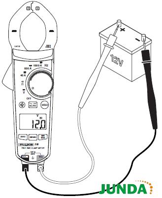 F317、F319钳形表如何测量交流和直流电压